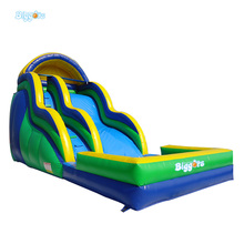 Sea Shipping Inflable Tobogan Inflatable Water Slide With Double Lane