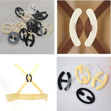 Hot 10pcs Colorful Invisible Bra Buckle Clips Perfect Adjust Wedding Bra Strap Clip Holder Underwear Accessories H-shaped