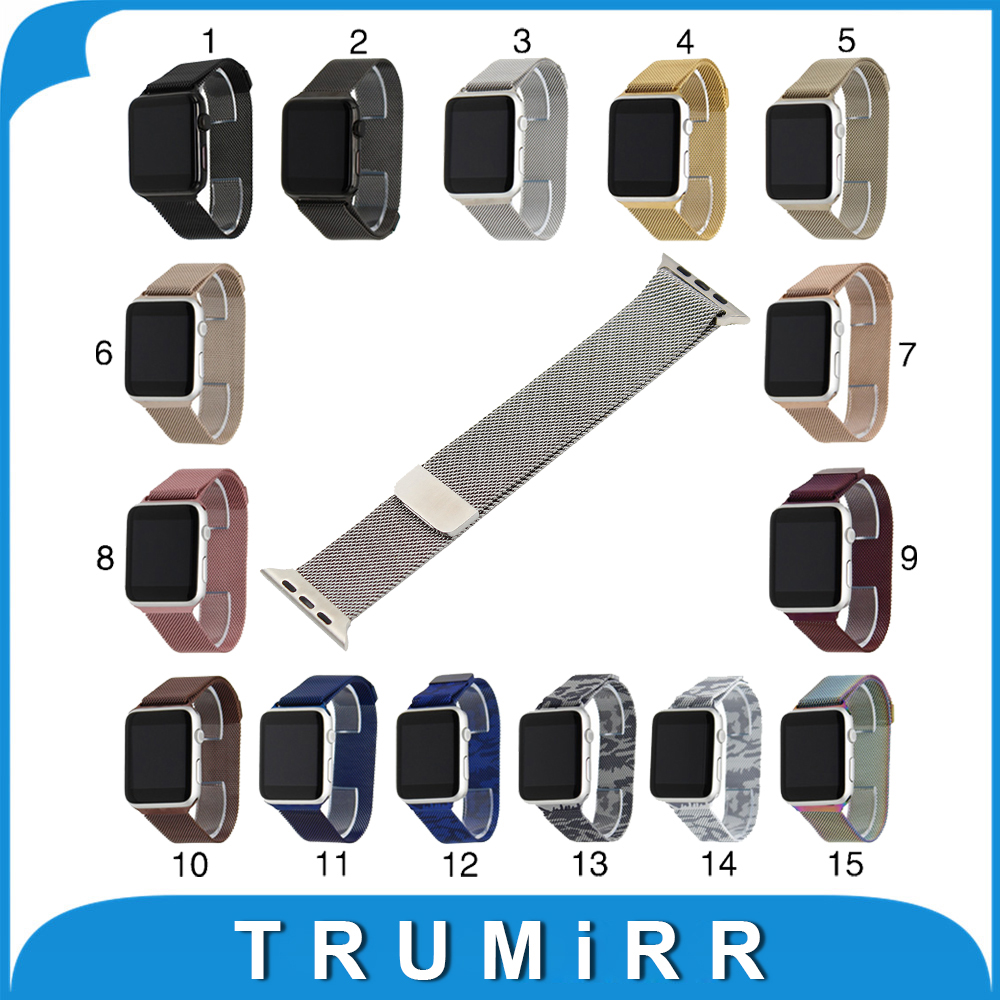 Milanese Loop Watchband for iWatch Apple Watch 38mm 42mm Stainless Steel Watch Band Magnet Buckle Strap Belt Bracelet 15 Colors<br><br>Aliexpress