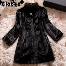 Plus Size 4XL 5XL 6XL Faux Fur Coats for Women Winter Long Fur Coat Synthetic Mink Fur Coat Ladies Fur Jacket