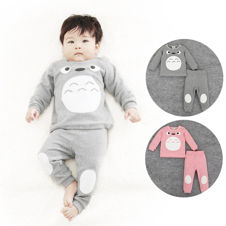 Happy Easter Baby Children Clothing Sets Spring Autumn Totoro Print Long Sleeve Top+Pants For Children Baby Home Wear Pajamas<br><br>Aliexpress