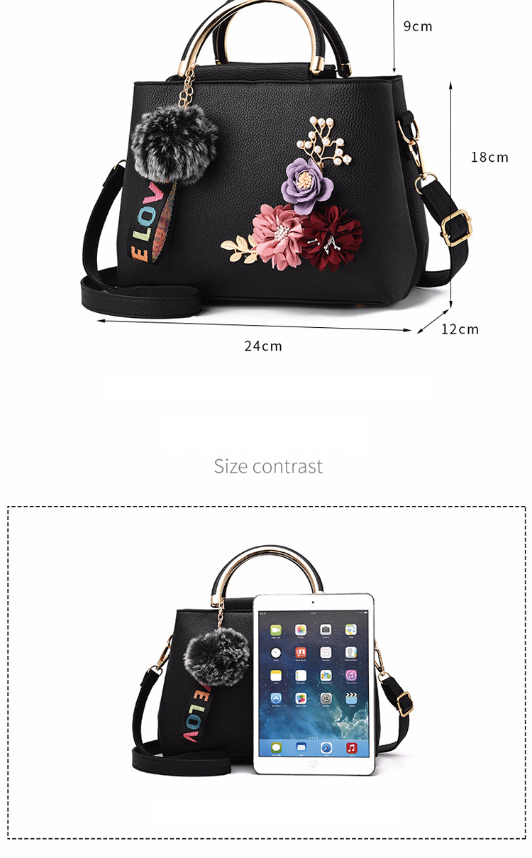 ETALOO Flowers Shell Ladies Handbags | Tote Leather Bag 4