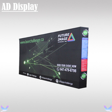 15ft Straight Portable Easy Fabric Banner Pop Up Display Stand With Single Side Advertising Graphic Printing (Include End Cap)