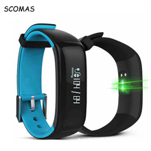 SCOMAS Waterproof Smart Band Bracelet Blood Pressure Heart Rate Monitor Sports Fitness Tracker Smart Wristband Pedometer Watch(China)