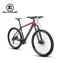 EUROBIKE 29*18.5 inch Carbon Fibre City Mountain Bike 27 speed 29 inch Wheel Hydraulic Brake Complete MTB Bicycle(China)