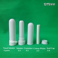 Essential Oil Aromatherapy White Color Blank Nasal Inhaler Tubes (16 Complete Sticks), Empty Nasal Inhalers(China)