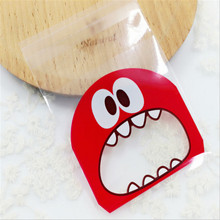50PCS 10*10CM  Cartoon Monster Cookie&Candy Bag DIY Self-Adhesive Plastic Bags Party Decoration Decoration Supplies-S