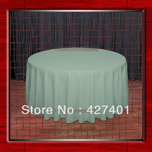 "Hot Sale 120""R Seamist 210GSM Polyester plain Table Cloth For Wedding Events & Party Decoration(Supplier)(China)"