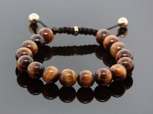 Hot Fashion Shamballa Jewelry Rope Handmade High Quality Tiger Eye Beaded Shamballa Bracelet for Men and Women  the best gift