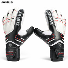 Size 7-10 Professional Soocer Goalkeeper Black Goalie Football Gloves Luvas De Goleiro Man Training Latex Goalkeeper Gloves S142