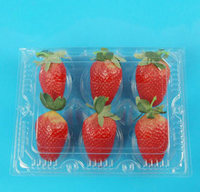 100pcs for six piece Strawberry disposable transparent  fruit packaging box Mango Lemon package boxs new simple Blister tray