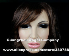 Top quality silicone face mask, full face party mask masquerade masks, realistic female masks for crossdresser, halloween