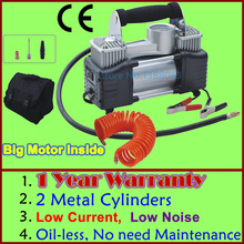 Wholesale High Quality 1 YEAR WARRANTY Double Cylinder Car Portable Air Compressor Metal air compressor 12V(China)