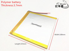 polymer Rechargeable lithium battery 37108103 3.7V 5000mAh battery pack For DIY GPS for tablet pc 8 inch 9inch(China)
