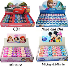 6pc/lot 100% good quality Elsa Anna cartoon self inking stamp set gift for kids scrapbooking DIY decoration