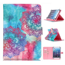 Wallet Card Slots Print Pattern Universal 10 inch Tablet Stand Case for Android iPad Asus 10'' inch Tablet Funda Cover Case(China)