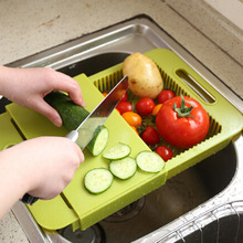 1Pc kitchen drain showing off double water cutting board, storage-type drain Board chopping blocks