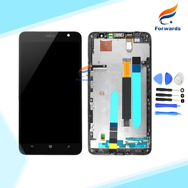 100% New Tested for Nokia Lumia 1320 LCD Display with Touch Screen Digitizer + Frame + Free Tools assembly 1 piece free shipping<br><br>Aliexpress