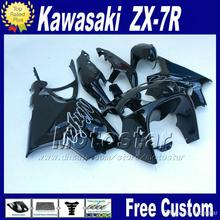 ABS fairings body kits for 1996 - 2003  KAWASAKI Ninja fairing   glossy black bodywork set ZX7R 96-01 02 03 with 7 gift