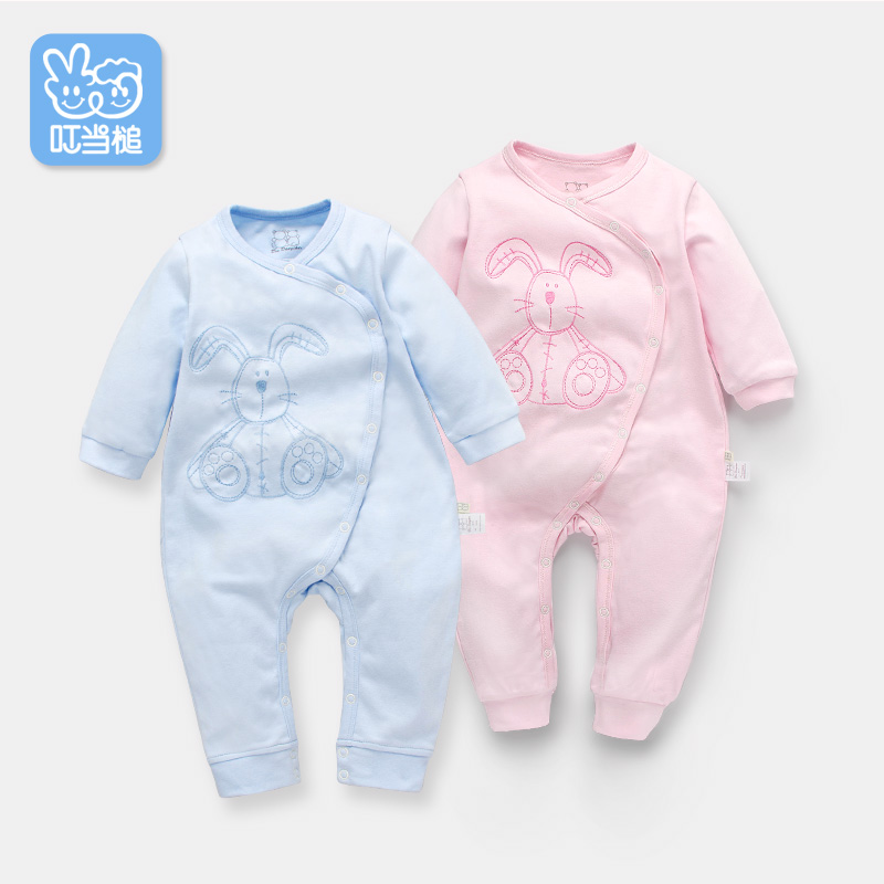 Dinstry Spring dress baby jumpsuit baby pajamas baby rompers cartoon 6  baby girls layette three month<br>