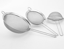 Fine Mesh Stainless Steel Strainers, stainless steel screen mesh oil strainer flour sieve Baking tools ,set of 3 B030-1