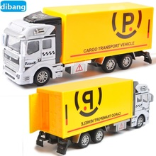Free Shipping Alloy 1:48 Pull Back Toy Car Children's Toys Loading Garbage Truck/Sprinkler car/Express car Metal model toy Gift(China)