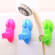 1pc New Portable Adjustable Home Bathroom Shower Head Stand Over Wall Vacuum Suction Cup Mounting Tool 4 Colors
