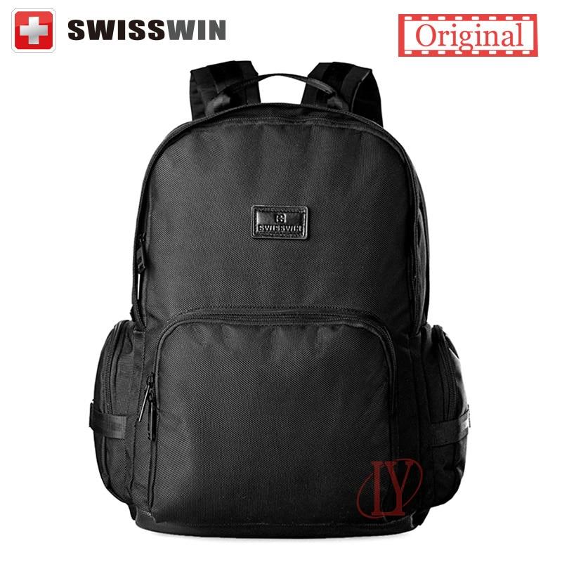 Swisswin Brand Fashion Backpack Youth Small Black Korean Style Backpack For Girl Cute Women Laptop Backpack Bag Mochila femenina<br>