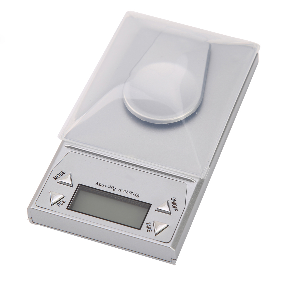 20x 0.001g High Precision Jewelry Digital Scale Tweezers Milligram Electronic Pocket Scale Herbs Medication
