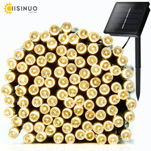 7M/12M/22M Solar Lamps Fairy LED String lights Garland Christmas Solar Lights for wedding holidays party Decoration Outdoor(China)