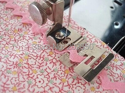 Household Sewing Machine Elastic Band Presser Foot,Edge Stitcher Foot,Compatible With Machines of Singer,Janome,Brother,Feiyue..(China)