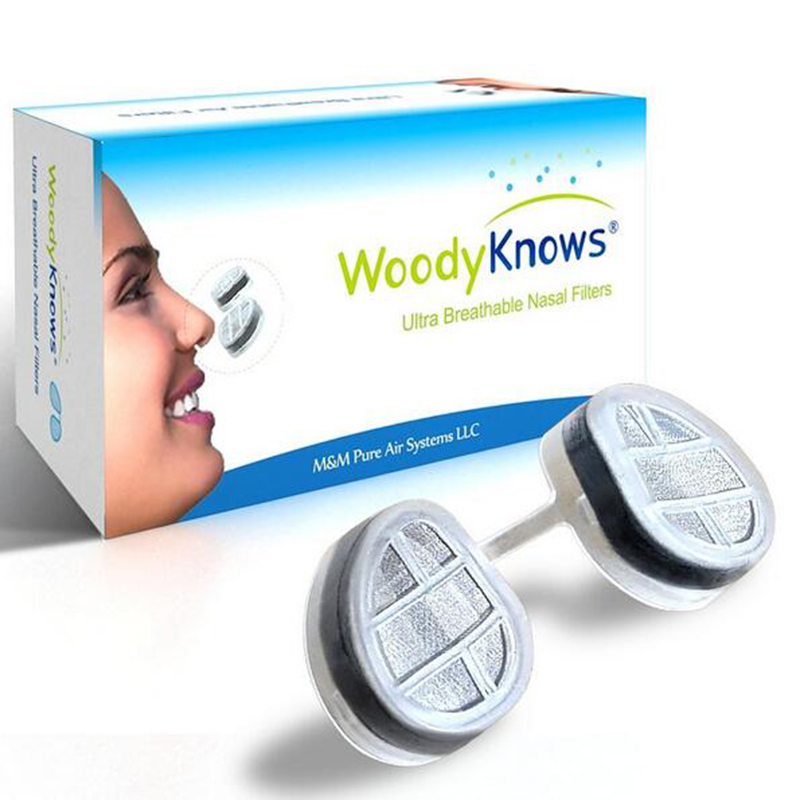 WoodyKnows Air Filter Ultra Breathable Nasal Filters Nose Masks Pollen Allergies Dust Allergy Relief No pm2.5 Air Pollution(China (Mainland))