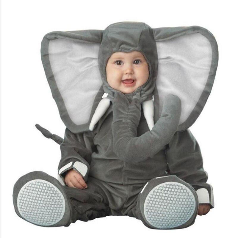 New Arrival Jumpsuit Gray Pink Elephant Monkey Lion Owl Elf Chicken Penguins Leotard Romper Infant Baby Costumes Baby Onesie<br>