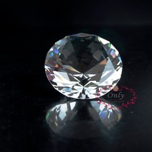 Free Shipping Fengshui Style 2 Inch 50mm Nature Clear Quartz Crystal Diamond Stone Paperweight Wedding Decoration Gifts(China)