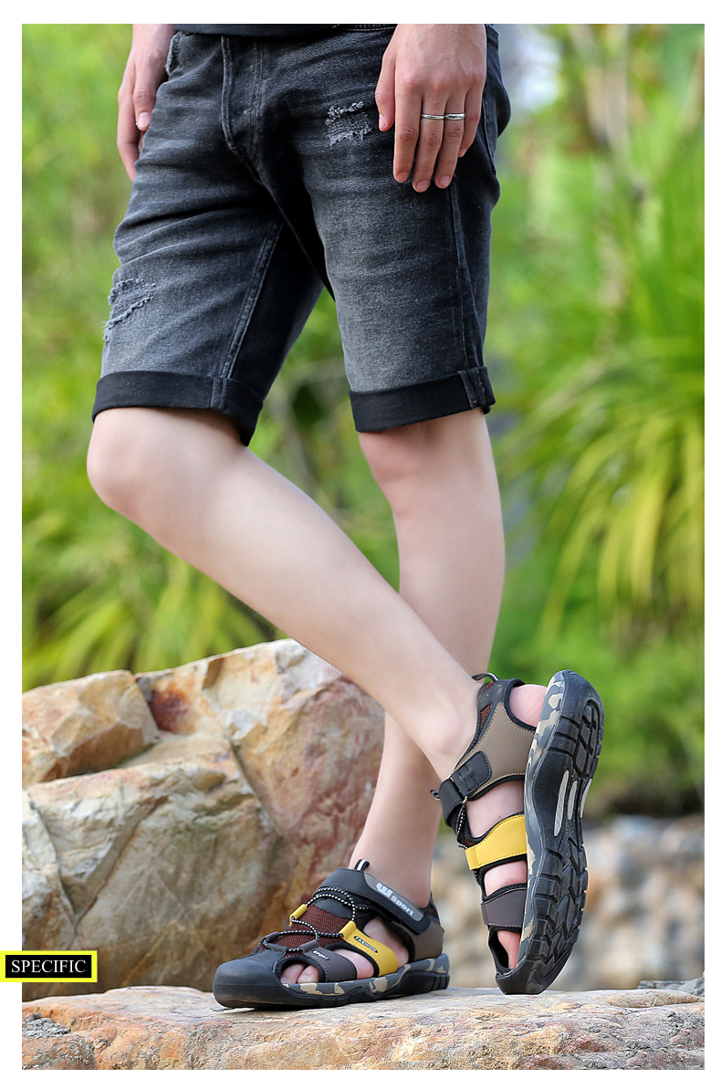 Leader Show Men Fashion Casual Shoes Summer New Adult Outdoor Beach Shoes High Quality Comfortable Man Baotou Sandals Breathable 23 Online shopping Bangladesh