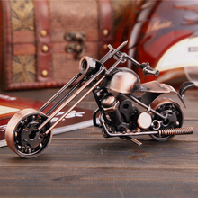 Vintage Metal Motorbike Model Iron Motorcycle Crafts Motor Ornaments Office Home Decoration Unique Craft Gift for Friends(China)