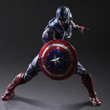 28cm Hot 2017 New Super Hero Toys Captain America Figure Toys PVC Captain America Action Figure Kids Toys Brinquedos Gifts