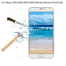 Tempered Glass Screen Protectors For Meizu MX3 MX4 MX5 MX6 Pro5 Pro6 for M2note M3note Glass Film with Alcohol Cotton