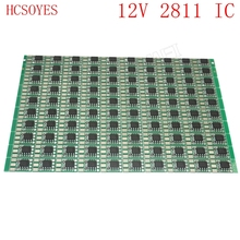 DC12V 100 pcs 15mm WS2811  LED Pixel Module Circuit Board PCB Square Making WS2811 IC Chip Light Lighting tape ribbon