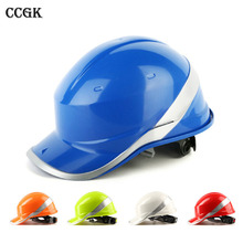 Safety Helmet Hard Hat Work Cap ABS Insulation Material With Phosphor Stripe Construction Site Insulating Protect Helmets 102018(China)
