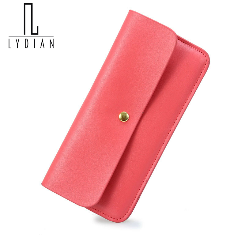 Simple Cowhide genuine leather Women wallet 2017 fresh ultra-thin design Envelope long wallet multi card holder Student purse W4<br><br>Aliexpress