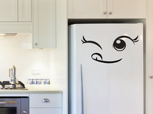 Lovely Cheeky Face Fridge Door Stickers Vinyl Removable Kids Room Kitchen Home Modern Design Decor Art Mural Interior DIY SYY486