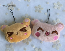Little Cute 7CM Approx. CAT Plush Stuffed TOYS ; NEW Key chain Bear Stuffed Animal Plush DOLL , Wedding Bouquet Gift(China)