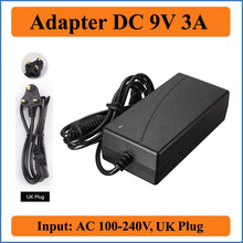 9V 3A UK Plug AC DC Adapter Lowest Price New AC 100-240V to For DC 9V 3A 3000mA Switching Power Supply Adapter Charger