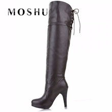 Big Size 34-43 Knee High Boots High Heels Women Boots Sexy Lady Fashion Winter Boots Shoes
