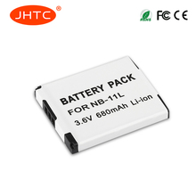 JHTC 680 мАч 3,7 В NB-11L батарея NB 11L NB11L для Canon a2600 A3500 a4000is IXUS 125 132 140 240 245 265 155 HS(China)