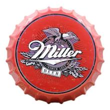 "Tin Sign ""Miller"" Creative Vintage Iron Restaurant Bar KTV Decorative Wall Hanging Ornaments Art Deco Beer Bottle 35x35 CM"