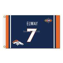 ELWAY Denver Broncos Flag 7 Frank Tripucka John Elway World Series Super Bowl Champions Denver Broncos Banner Flag(China)