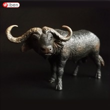 African buffalo Model Zoo plastic Solid Water Cow Classic Toy domestic Animal Model Wild animals toys