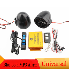 Motorcycle Bluetooth MP3 Music Player Alarm Moto Anti-theft Security System Remote Control FM Radio Audio Protection USB TF Car